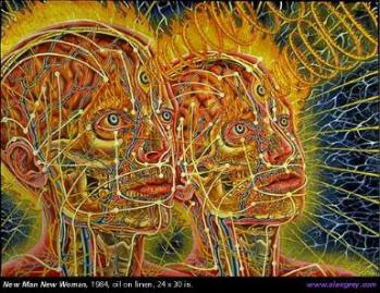 alex grey painting new man new woman