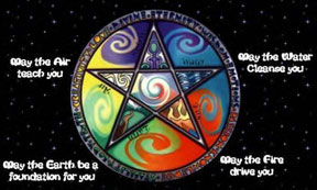pagan 5 elements pentacle