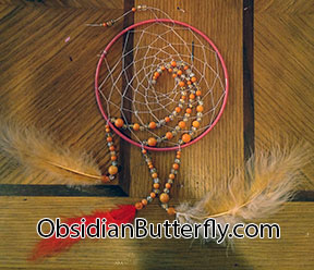 orange dreamcatcher, from ObsidianButterfly.com