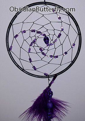 purple dreamcatcher, from www.ObsidianButterfly.com